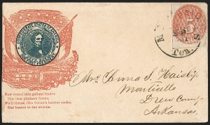 Sale Number 1190, Lot Number 1506, Patriotics–Postmasters' ProvisionalsMemphis Tenn., 5c Red (56X2), Memphis Tenn., 5c Red (56X2)