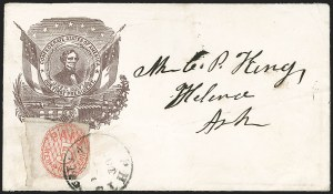 Sale Number 1190, Lot Number 1507, Patriotics–Postmasters' ProvisionalsMemphis Tenn., 5c Red (56X2), Memphis Tenn., 5c Red (56X2)