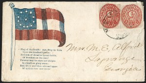 Sale Number 1190, Lot Number 1509, Patriotics–Postmasters' ProvisionalsMemphis Tenn., 5c Red on Pelure (56X2c), Memphis Tenn., 5c Red on Pelure (56X2c)