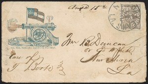 Sale Number 1190, Lot Number 1513, Patriotics–Postmasters' ProvisionalsNew Orleans La., 5c Brown on White (62X3), New Orleans La., 5c Brown on White (62X3)