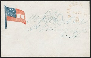 Sale Number 1190, Lot Number 1516, Patriotics–Postmasters' ProvisionalsRaleigh N.C., 5c Red entire (68XU1), Raleigh N.C., 5c Red entire (68XU1)