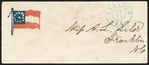 Sale Number 1190, Lot Number 1517, Patriotics–Postmasters' ProvisionalsRaleigh N.C., 5c Red entire (68XU1), Raleigh N.C., 5c Red entire (68XU1)