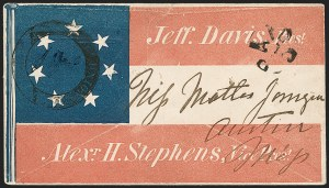 Sale Number 1190, Lot Number 1521, Patriotics–Handstamped Paid and Due Markings: Davis-Stephens and Davis MedallionsUnion City Ten. July 26 (1861), Union City Ten. July 26 (1861)