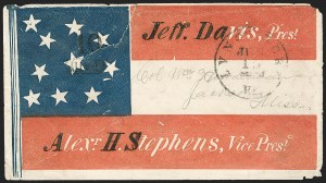 Sale Number 1190, Lot Number 1523, Patriotics–Handstamped Paid and Due Markings: Davis-Stephens and Davis MedallionsLynchburg Va. Jun. 15 (1861), Lynchburg Va. Jun. 15 (1861)