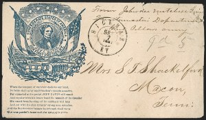 Sale Number 1190, Lot Number 1532, Patriotics–Handstamped Paid and Due Markings: Davis-Stephens and Davis MedallionsHickman Ky. Sep. 7, 1861, Hickman Ky. Sep. 7, 1861