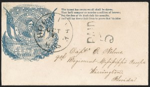Sale Number 1190, Lot Number 1542, Patriotics–Handstamped Paid and Due Markings: Davis-Stephens and Davis MedallionsHorn Lake Miss. Oct. 7 (1861), Horn Lake Miss. Oct. 7 (1861)