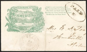 Sale Number 1190, Lot Number 1558, Patriotics–Handstamped Paid and Due Markings: State & Allegorical DesignsCorinth Miss. Nov. 16 (1861), Corinth Miss. Nov. 16 (1861)