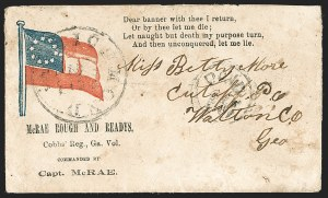 Sale Number 1190, Lot Number 1584, Patriotics–Handstamped Paid and Due Markings: 10-Star Flag DesignsRichmond Va. ? 29, Richmond Va. ? 29
