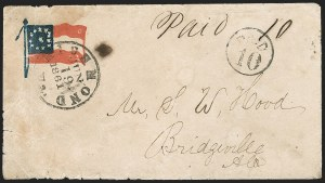 Sale Number 1190, Lot Number 1625, Patriotics–Handstamped Paid and Due Markings: 12-Star thru 13-Star Flag DesignsRichmond Va. Jun. 19, 1861, Richmond Va. Jun. 19, 1861