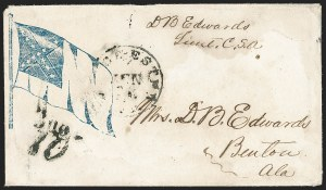 Sale Number 1190, Lot Number 1631, Patriotics–Handstamped Paid and Due Markings: 12-Star thru 13-Star Flag DesignsWinchester Va. Jun. 24, 186?, Winchester Va. Jun. 24, 186?