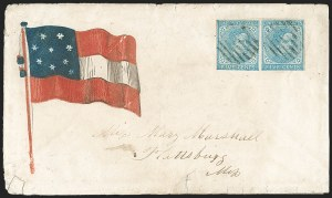 Sale Number 1190, Lot Number 1669, Patriotics–General Issues: 7-Star thru 13-Star Designs5c Blue, Local (7), 5c Blue, Local (7)