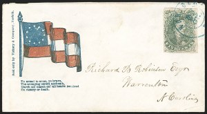 Sale Number 1190, Lot Number 1678, Patriotics–General Issues: 7-Star thru 13-Star Designs5c Green, Stone 1-2 (1), 5c Green, Stone 1-2 (1)