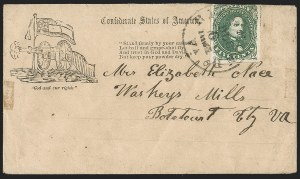 Sale Number 1190, Lot Number 1694, Patriotics–General Issues: Flag and Cannon, Tents, Soldier Designs5c Green, Stone 1 (1-2), 5c Green, Stone 1 (1-2)