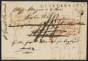 Sale Number 1191, Lot Number 2023, Transatlantic, Railroad, Steamboat Mail,