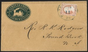 Sale Number 1191, Lot Number 2030, Transatlantic, Railroad, Steamboat Mail3c Dull Red, Ty. II (11A), 3c Dull Red, Ty. II (11A)
