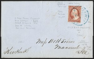 Sale Number 1191, Lot Number 2032, Transatlantic, Railroad, Steamboat Mail3c Orange Brown, Ty. I (10), 3c Orange Brown, Ty. I (10)
