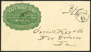Sale Number 1191, Lot Number 2034, Transatlantic, Railroad, Steamboat MailRail-Road Line, Saint Louis, Cairo & New Orleans, Express Mail and Passenger Steamer Imperial, Rail-Road Line, Saint Louis, Cairo & New Orleans, Express Mail and Passenger Steamer Imperial