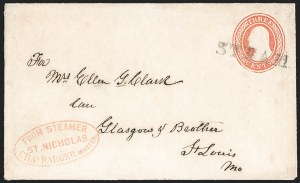 Sale Number 1191, Lot Number 2037, Transatlantic, Railroad, Steamboat MailFrom Steamer St. Nicholas, Chas. Barger, Master, From Steamer St. Nicholas, Chas. Barger, Master