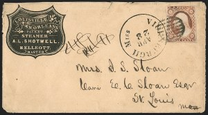 Sale Number 1191, Lot Number 2039, Transatlantic, Railroad, Steamboat Mail3c Dull Red, Ty. I (11), 3c Dull Red, Ty. I (11)