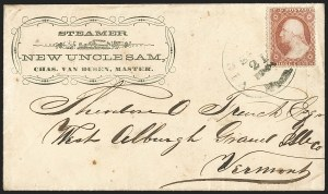 Sale Number 1191, Lot Number 2041, Transatlantic, Railroad, Steamboat Mail3c Dull Red, Ty. III (26), 3c Dull Red, Ty. III (26)