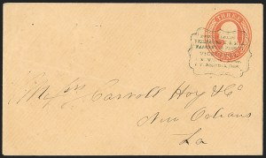 Sale Number 1191, Lot Number 2042, Transatlantic, Railroad, Steamboat MailPassenger Packet Vicksburg, Passenger Packet Vicksburg