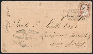 "Sale Number 1191, Lot Number 2056, Western Mails -- Utah Territory""Ft. Kearny O.R."" (1852)--Woodson Contract Mail, ""Ft. Kearny O.R."" (1852)--Woodson Contract Mail"