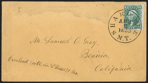 Sale Number 1191, Lot Number 2069, Butterfield Overland Mails10c Green, Ty. II (32), 10c Green, Ty. II (32)