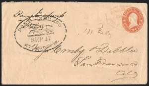 Sale Number 1191, Lot Number 2082, Trans-Continental Pony ExpressPony Express St. Joseph Sep. 27 (1860), Pony Express St. Joseph Sep. 27 (1860)