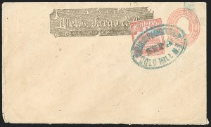 Sale Number 1191, Lot Number 2088, Trans-Continental Pony ExpressWells, Fargo & Co. Pony Express, $1.00 Red (143L3), Wells, Fargo & Co. Pony Express, $1.00 Red (143L3)