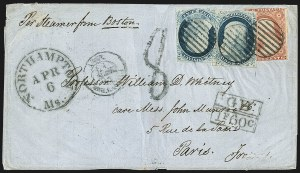 Sale Number 1191, Lot Number 2120, 1851-60 Issues1c Blue, Ty. IV (9), 1c Blue, Ty. IV (9)