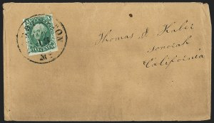 Sale Number 1191, Lot Number 2127, 1851-60 Issues10c Green, Ty. IV (16), 10c Green, Ty. IV (16)