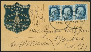 Sale Number 1191, Lot Number 2130, 1851-60 Issues1c Blue, Ty. V (24), 1c Blue, Ty. V (24)