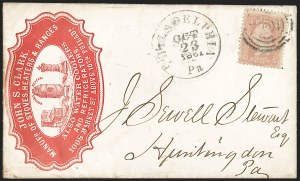 Sale Number 1191, Lot Number 2136, 1861-66 Issue (including First Day of Issue)3c Rose (65), 3c Rose (65)