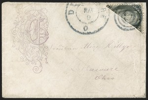 Sale Number 1191, Lot Number 2140, 1861-66 Issue (including First Day of Issue)2c Black, Diagonal Half Used as 1c (73a), 2c Black, Diagonal Half Used as 1c (73a)
