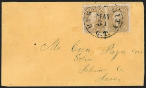 Sale Number 1191, Lot Number 2158, 5c 1861-68 Issues Specialized Collection: Buff Shades (Scott 67)5c Brown Yellow (67a), 5c Brown Yellow (67a)