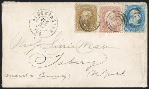 Sale Number 1191, Lot Number 2163, 5c 1861-68 Issues Specialized Collection: Buff Shades (Scott 67)5c Buff (67), 5c Buff (67)