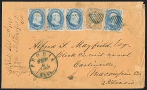 Sale Number 1191, Lot Number 2164, 5c 1861-68 Issues Specialized Collection: Buff Shades (Scott 67)5c Brown Yellow (67a), 5c Brown Yellow (67a)