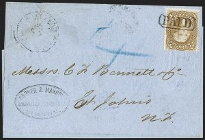 Sale Number 1191, Lot Number 2167, 5c 1861-68 Issues Specialized Collection: Buff Shades (Scott 67)5c Buff (67), 5c Buff (67)