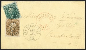 Sale Number 1191, Lot Number 2170, 5c 1861-68 Issues Specialized Collection: Buff Shades (Scott 67)5c Buff (67), 5c Buff (67)