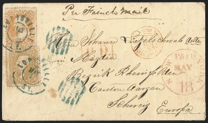 Sale Number 1191, Lot Number 2177, 5c 1861-68 Issues Specialized Collection: Buff Shades (Scott 67)5c Brown Yellow (67a), 5c Brown Yellow (67a)