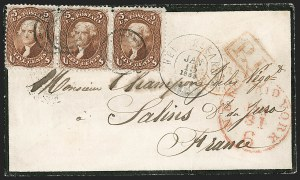 Sale Number 1191, Lot Number 2191, 5c 1861-68 Issues Specialized Collection: Red Brown Shades (Scott 75)5c Red Brown (75), 5c Red Brown (75)