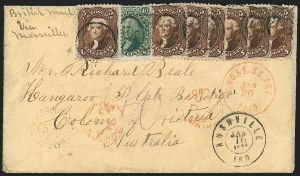 Sale Number 1191, Lot Number 2199, 5c 1861-68 Issues Specialized Collection: Red Brown Shades (Scott 75)5c Red Brown (75), 5c Red Brown (75)