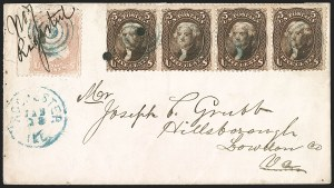 Sale Number 1191, Lot Number 2202, 5c 1861-68 Issues Specialized Collection: Brown Shades (Scott 76, 95)5c Brown (76), 5c Brown (76)