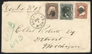Sale Number 1191, Lot Number 2203, 5c 1861-68 Issues Specialized Collection: Brown Shades (Scott 76, 95)5c Brown (76), 5c Brown (76)