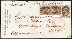 Sale Number 1191, Lot Number 2262, 10c 1870-82 Bank Note Issues Specialized Collection (Scott 139)2c Brown, 10c Brown, H. Grill (135, 139), 2c Brown, 10c Brown, H. Grill (135, 139)
