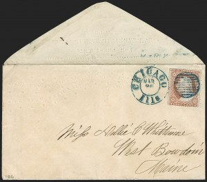 Sale Number 1191, Lot Number 2386, Civil War Postal History3c Dull Red, Ty. III (26), 3c Dull Red, Ty. III (26)