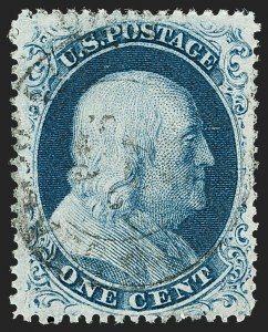 Sale Number 1192, Lot Number 113, 1857-60 Issue (Scott 18-39)1c Blue, Ty. IIIa (22), 1c Blue, Ty. IIIa (22)