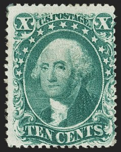 Sale Number 1192, Lot Number 130, 1857-60 Issue (Scott 18-39)10c Green, Ty. I (31), 10c Green, Ty. I (31)