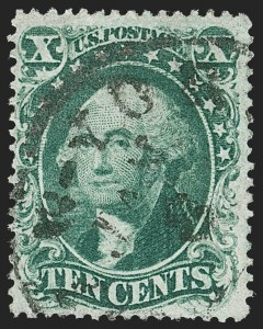 Sale Number 1192, Lot Number 132, 1857-60 Issue (Scott 18-39)10c Green, Ty. I (31), 10c Green, Ty. I (31)