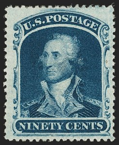 Sale Number 1192, Lot Number 139, 1857-60 Issue (Scott 18-39)90c Blue (39), 90c Blue (39)